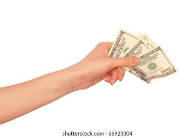 The doctor took false dollars in hands