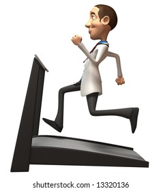 Doctor with a treadmill