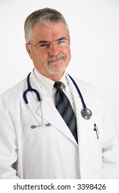 Doctor with an unapproving expression