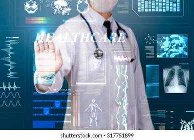 doctor using glow healthcare screen