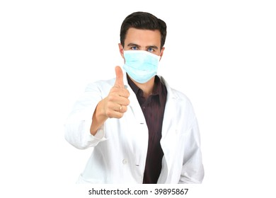 doctor at white background