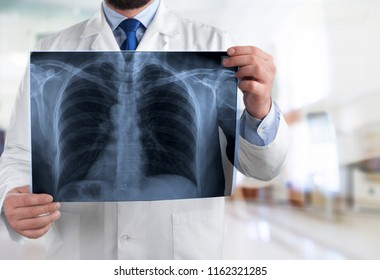 Doctor with a x-ray.