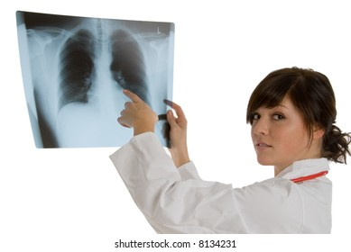 doctor at x-ray