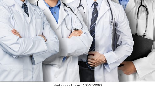 Doctors group including surgeon doctor