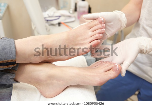 Doctors Hands Restore Damaged Nails On Stock Photo (Edit Now