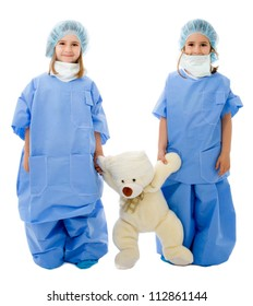 doctors and toy illness patient