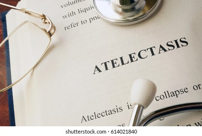 Document with diagnosis atelectasis in a hospital.