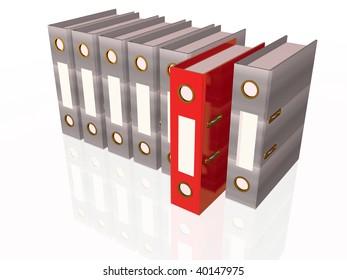 Document folders on white background.