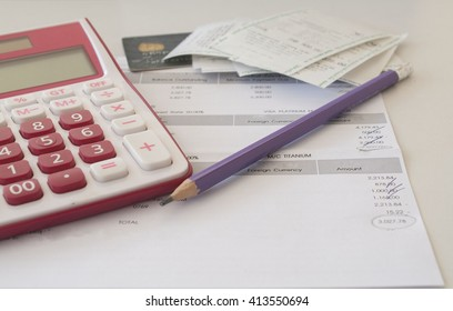document monthly expense of credit card