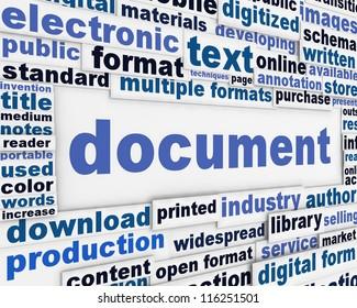Document poster design. Information medium message background