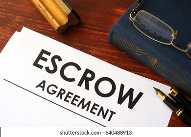 Document with title escrow agreement.