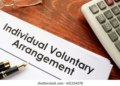 Document with title Individual voluntary arrangement IVA.