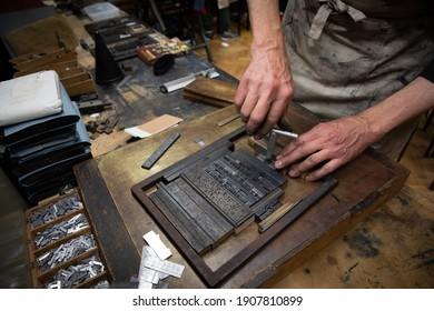Documentary style letterpress printing workshop