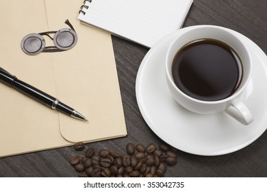Documents and coffee