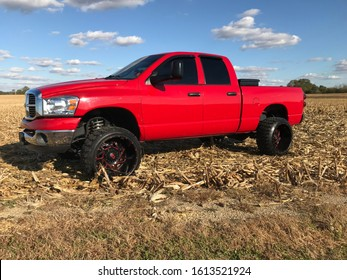 "Dodge Ram 2500 22"" wheels farm life country diesel truck"