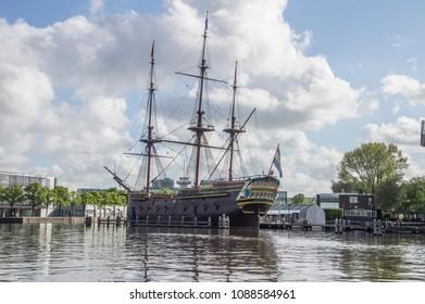 Doen VOC Ship At The Scheepvaartmuseum Amsterdam The Netherlands 2018