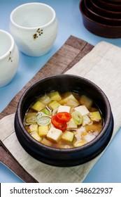 Doenjang stew, Doenjang jjigae, Bean paste stew, Korean stew