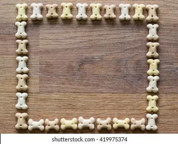 Dog biscuit frame