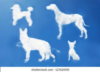 dog clouds shape