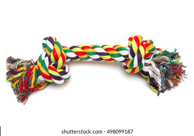 Dog Cotton rope for games isolated on white background