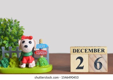 The dog in the garden, Date of number cube design, December 26.