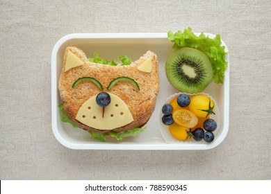 Dog lunch box, fun food art for kids