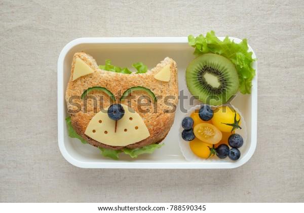 Dog lunch box, fun food art for kids