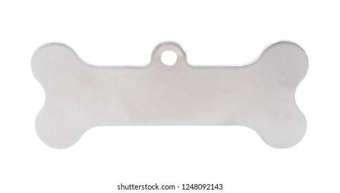 Dog pendant tag shape as bone pet metal