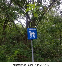 Dog toilet sign at a camping ground