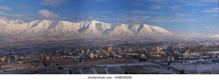 .Dogansehir, Malatya/Turkey-29.01.2016: Dogansehir in winter, Dogansehir under snow