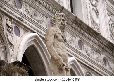 Doges palace, Venice, Italy, decorative detail