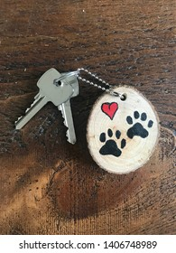 Dogs Paws Key Ring Design