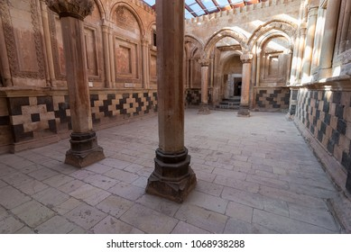 DOGUBAYAZIT - NOVEMBER 29: Ceremonial Hall in Ishak Pasha Palace on November 26, 2016 in Dogubayazit, Agri province, Turkey.