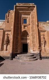DOGUBAYAZIT - NOVEMBER 29: Entrance to the harem on the second courtyard of Ishak Pasha Palace on November 26, 2016 in Dogubayazit, Agri province, Turkey.