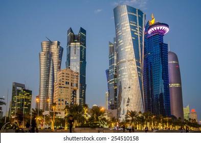 Doha at blue hour