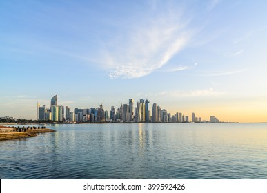 Doha Corniche in the early morning