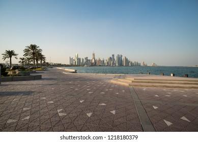 Doha corniche, Qatar, Middle East