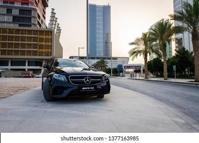 Doha, Doha/Qatar - April 19, 2019 : Mercedes E53 AMG in Qatar