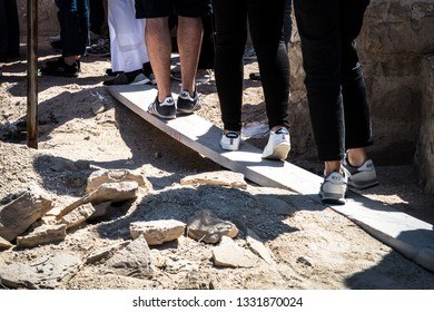 Doha, Doha/Qatar - Mar 02, 2019 : people wear different brand shoes