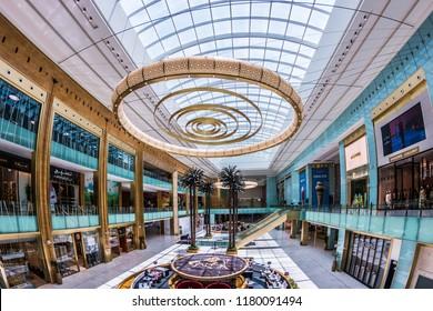 Doha, Doha/Qatar- Sept 15, 2018: Mall of Qatar, Doha Qatar.