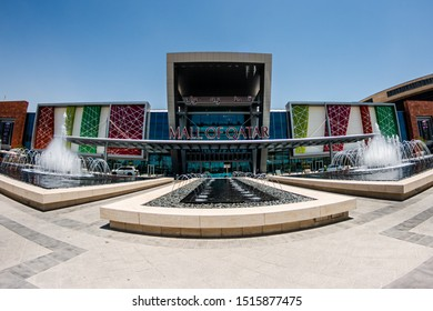 Doha, Doha/Qatar - Sept 20, 2019 : Mall of Qatar Main Entrance