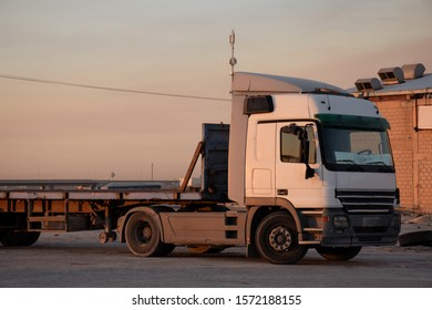 Doha, Kuwait - November 22, 2019: Heavy vehicle truck for transportation parked in Kuwait