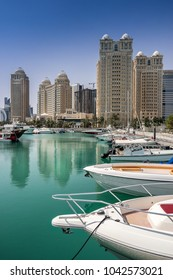 Doha marina on the Corniche in Qatar