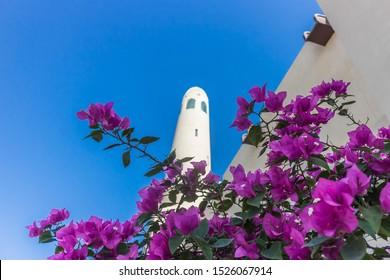Doha - Qatar - 10/04/2019: Imam Muhammad ibn Abd al-Wahhab Mosque (also called the Qatar State Mosque)