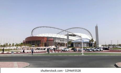 Doha, Qatar- 25th January 2019: Khalifa Stadium, one of the main venues for FIFA world cup football 2022.
