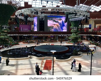 Doha, Qatar - 27th December 2016: Mall of Qatar, new shopping mall opened near the capital Doha, Qatar.