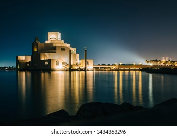 Doha, Qatar - 28.05.2019: Building of Museum of Islamic Art at Doha, Qatar.