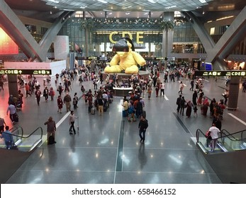 Doha, Qatar - 30th April, 2017: Hamad International Airport, Doha, Qatar