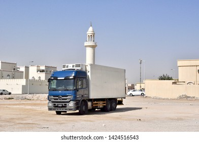 Doha, Qatar - 31st Jan 2019: Transport vehicle for cargo at a building site