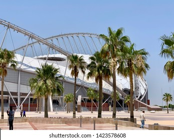 Doha, Qatar - 7th June 2019:The Khalifa International Stadium  This stadium will play a central role in the 2022 Fifa football World Cup